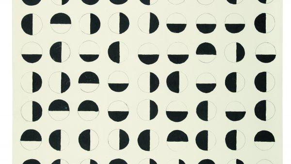 "Charlotte Posenenske, ""Rasterbild"" (Grid Picture), 1957.© Estate of Charlotte Posenenske. Cortesia de l'Estate of Charlotte Posenenske, Mehdi Chouakri, Berlín, Peter Freeman, NovaYork i Take Ninagawa, Tòquio."