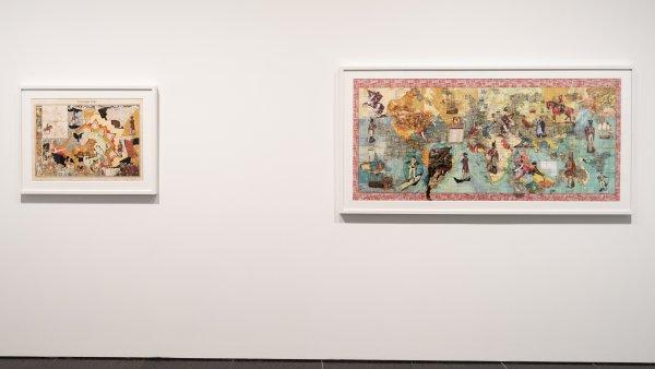 """Vistas de la exposición """"Territorios indefinidos. Perspectivas sobre el legado colonial"""". Foto: Miquel Coll"""