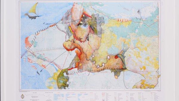 """Pala Pothupitiye """"Other Maps Series"""", 2016. Singapore Art Museum"""
