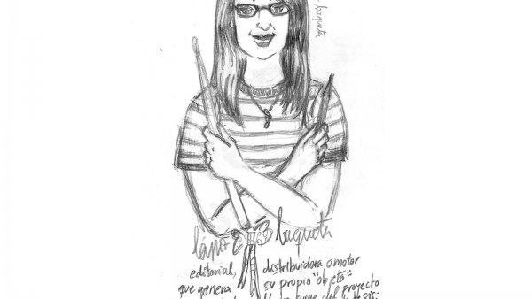 """Dibujo a lápiz de """"Una Archiva del DIY"""""""