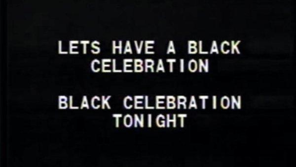 "Tony Cokes ""Black Celebration"", 1988"