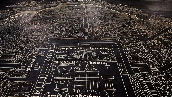 """Mariana Castillo Deball, """"Nuremberg Map of Tenochtitlan"""" (2013)"""