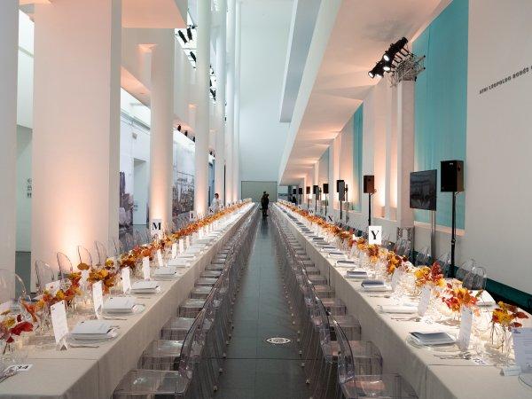 Atrio disposición banquete