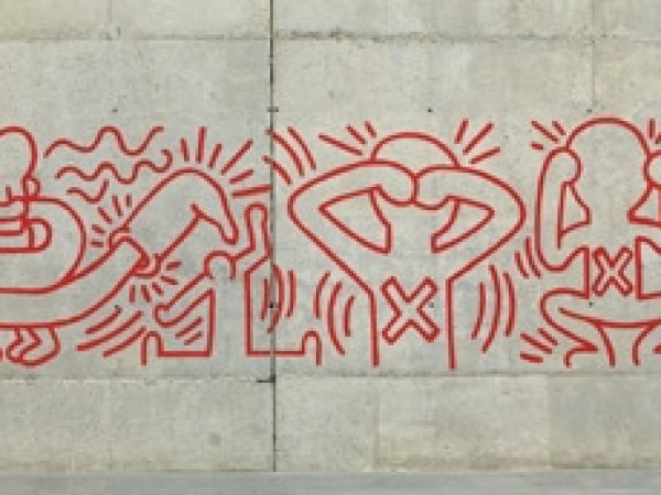 Reproduction of an urban graffiti