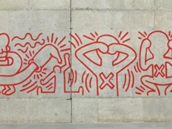 Reproducción de un grafiti urbano