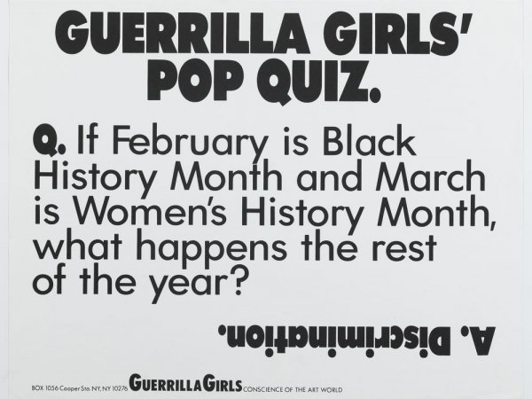 Guerrilla Girls: When Art is the Question