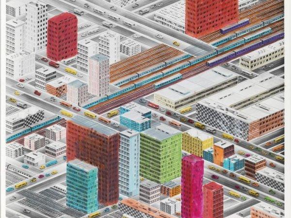 Bird's eye view of cities