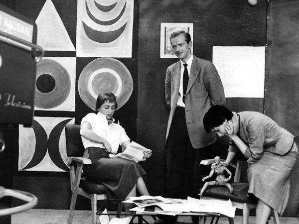 """Gustavo Zalamea """"Marta Traba en el estudio"""", ca 1956"""
