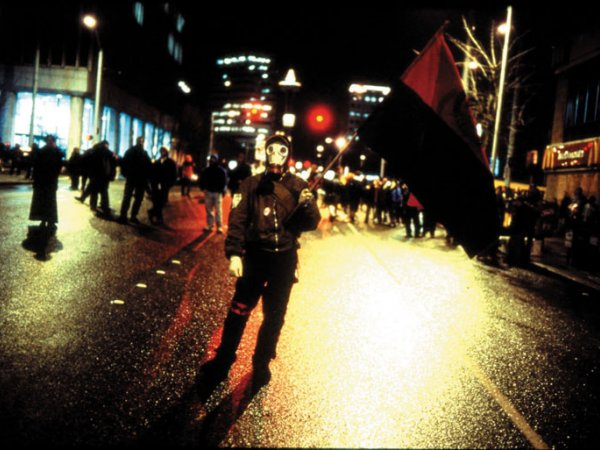 "Allan Sekula ""Waiting for Tear Gas"", 1999"