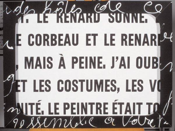 "Marcel Broodthaers ""Le Corbeau et le Renard"", 1967"