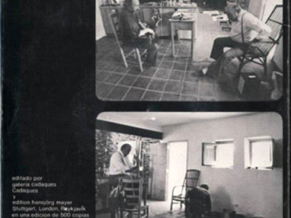 """Back cover of the record """"Canciones de Cadaqués"""""""