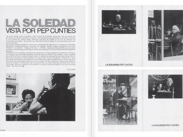 "Selection from the catalogue ""Centre Internacional de Fotografia Barcelona (1978-1983) "", pages 110 and 111"