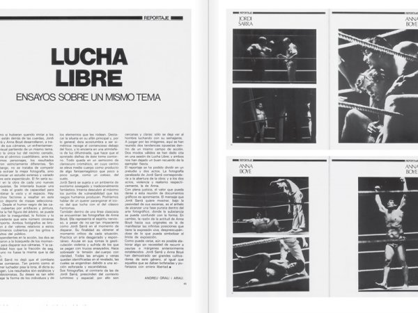 "Selection from the catalogue ""Centre Internacional de Fotografia Barcelona (1978-1983) "", pages 92 and 93"