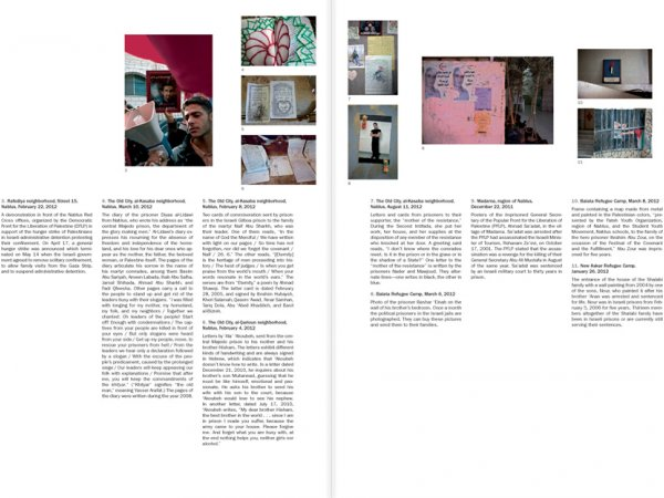 "Selection from the catalogue Ahlam Shibli: Phantom Home"", pages 52 and 53"