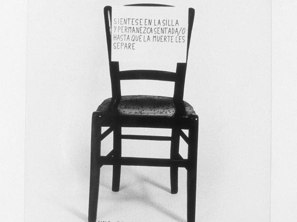 "Esther Ferrer ""Silla Zaj"", 1974"