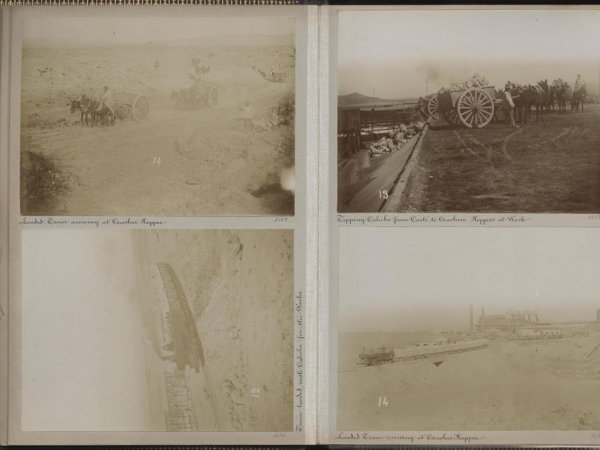Photographic album 'Oficina Alianza and Port of Iquique 1899'. Courtesy of Museo Universidad de Navarra