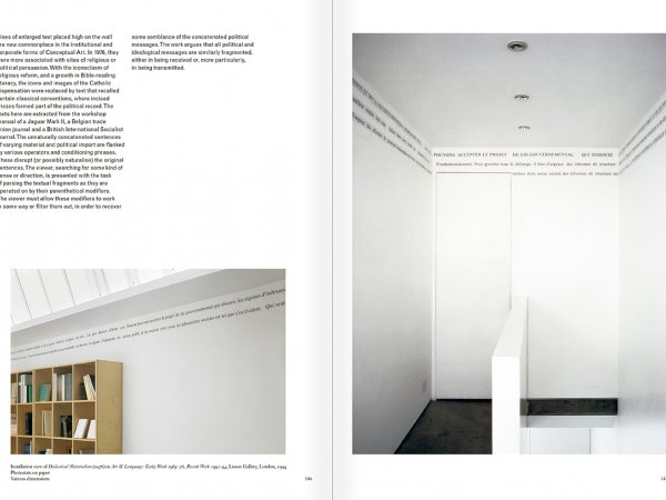 Selection from the catalogue 'Art & Language. Uncompleted', pages  146 and 147
