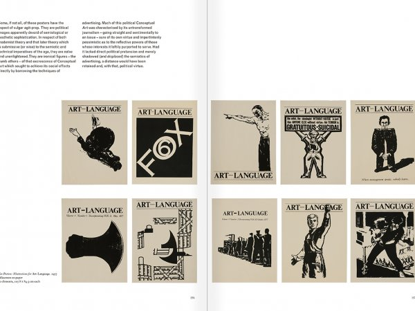 Selection from the catalogue 'Art & Language. Uncompleted', pages  156 and 157