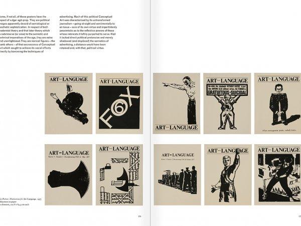 """Selección del catálogo """"Art & Language. Incompleto"""", páginas 156 y 157"""