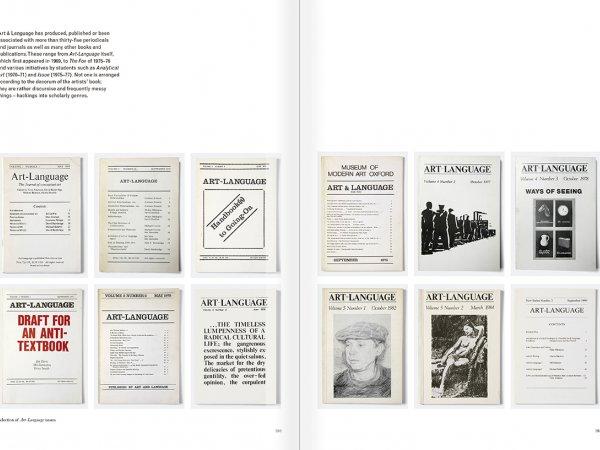 """Selección del catálogo """"Art & Language. Incompleto"""", páginas 180 y 181"""
