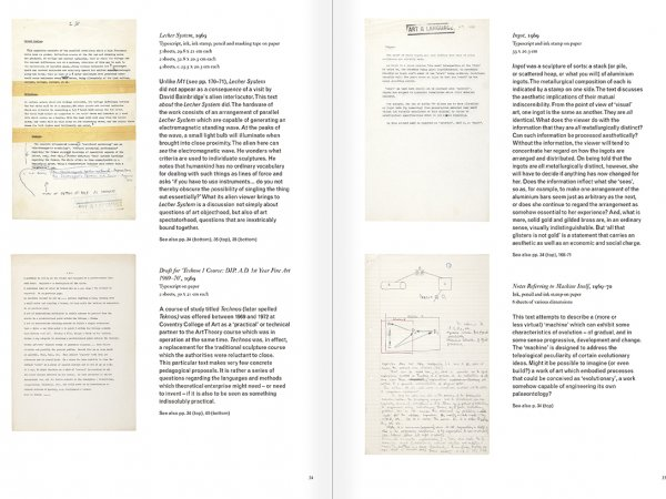 Selection from the catalogue 'Art & Language. Uncompleted', pages 34 and 35