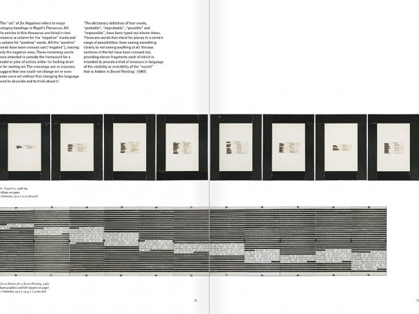 Selection from the catalogue 'Art & Language. Uncompleted', pages  72 and 73
