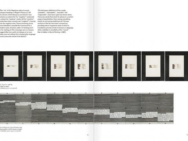 """Selección del catálogo """"Art & Language. Incompleto"""", páginas 72 y 73"""