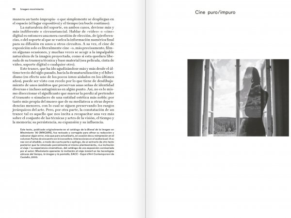 "Selection from the catalogue ""Eugeni Bonet: Escritos de vista y oído"", pages 38 and 39"