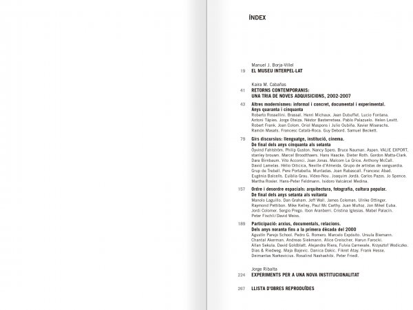 Selection from the catalogue 'Relational Objects. MACBA Collection 2002-07', pages 16 and 17