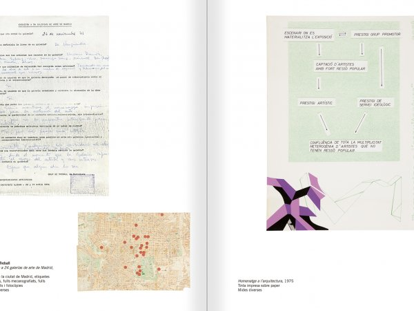 Selection from the catalogue 'Relational Objects. MACBA Collection 2002-07', pages 128 and 129