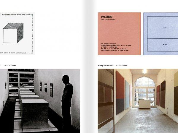 """Selecció del catàleg """"Amb la probabilitat de ser vist. Dorothee i Konrad Fischer: Arxius d'una actitud"""" pàgines 124 i 125"""
