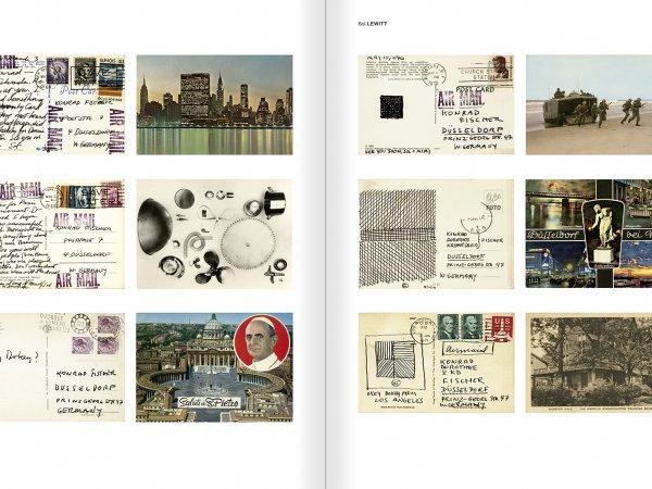 """Selecció del catàleg """"Amb la probabilitat de ser vist. Dorothee i Konrad Fischer: Arxius d'una actitud"""" pàgines 140 i 141"""