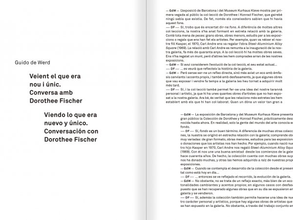 """Selecció del catàleg """"Amb la probabilitat de ser vist. Dorothee i Konrad Fischer: Arxius d'una actitud"""" pàgines 146 i 147"""