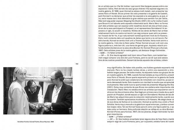 """Selecció del catàleg """"Amb la probabilitat de ser vist. Dorothee i Konrad Fischer: Arxius d'una actitud"""" pàgines 152 i 153"""