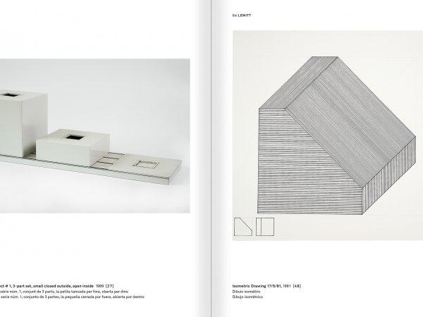 """Selecció del catàleg """"Amb la probabilitat de ser vist. Dorothee i Konrad Fischer: Arxius d'una actitud"""" pàgines 208 i 209"""