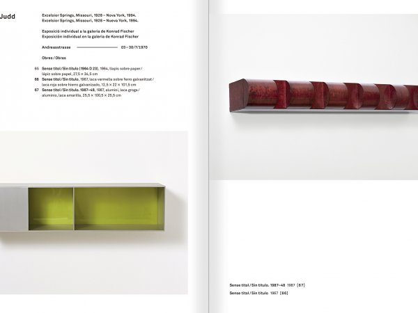 Selection from the catalogue 'With a Probability of Being Seen. Dorothee and Konrad Fischer: Archives of an Attitude', pages 218 and 219