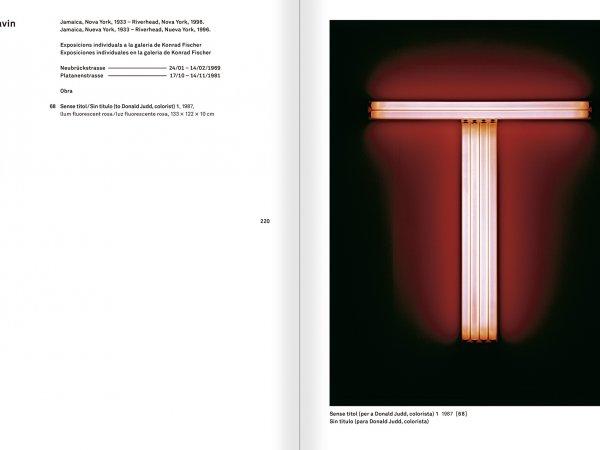 """Selecció del catàleg """"Amb la probabilitat de ser vist. Dorothee i Konrad Fischer: Arxius d'una actitud"""" pàgines 220 i 221"""