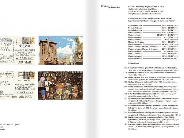 """Selecció del catàleg """"Amb la probabilitat de ser vist. Dorothee i Konrad Fischer: Arxius d'una actitud"""" pàgines 266 i 267"""