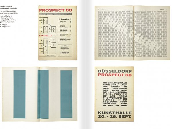 """Selecció del catàleg """"Amb la probabilitat de ser vist. Dorothee i Konrad Fischer: Arxius d'una actitud"""" pàgines 68 i 69"""