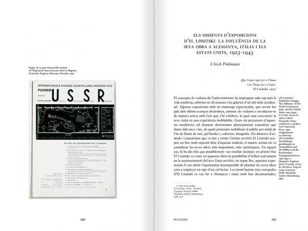 """Selección del catálogo """"Espacios fotográficos públicos. Exposiciones de propaganda, de Pressa a The Family of Man, 1928-1955"""" páginas 166 y 167"""