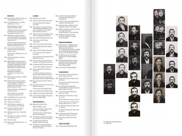 """Selecció del catàleg """"Gil J Wolman. Sóc inmortal i estic viu"""" pàgines 132 i 133"""