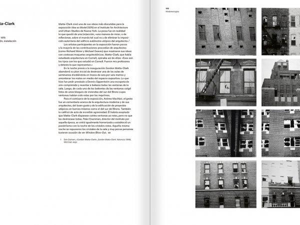 """Selección del catálogo """"Modernologías. Artistas contemporáneos investigan la modernidad y el modernismo"""" páginas 148 y 149"""