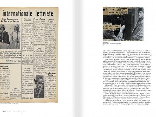 """Selecció del catàleg """"Gil J Wolman. Sóc inmortal i estic viu"""" pàgines 16 i 17"""