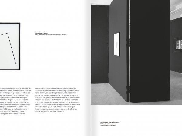 """Selección del catálogo """"Modernologías. Artistas contemporáneos investigan la modernidad y el modernismo"""" páginas 188 y 189"""