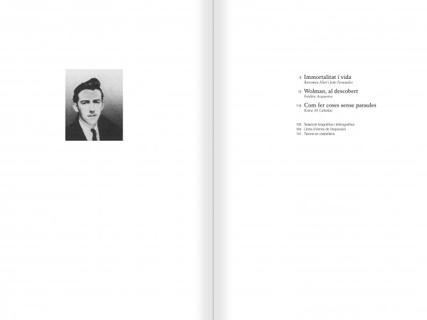 Selection from the catalogue 'Gil J Wolman. I am immortal and alive', pages 6 and 7