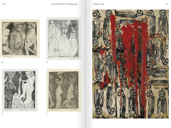 Selection from the catalogue 'The passion according to Carol Rama', pages 110 and 111