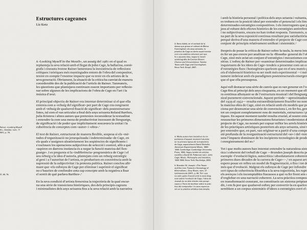 """Selecció del catàleg """"L'anarquia del silenci. John Cage i l'art experimental"""" pàgines 118 i 119"""
