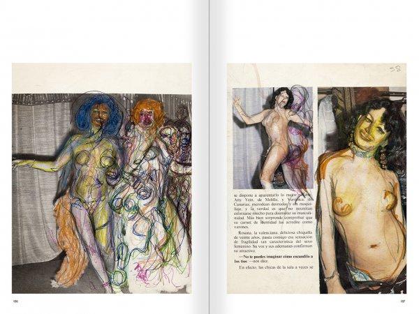 """Selecció del catàleg """"El sexo que habla. Osvaldo Lamborghini"""" pàgines 136 i 137"""