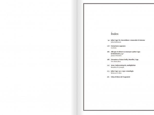 """Selecció del catàleg """"L'anarquia del silenci. John Cage i l'art experimental"""" pàgines 14 i 15"""