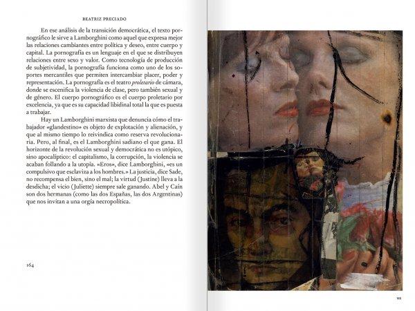"""Selecció del catàleg """"El sexo que habla. Osvaldo Lamborghini"""" pàgines 164 i 165"""